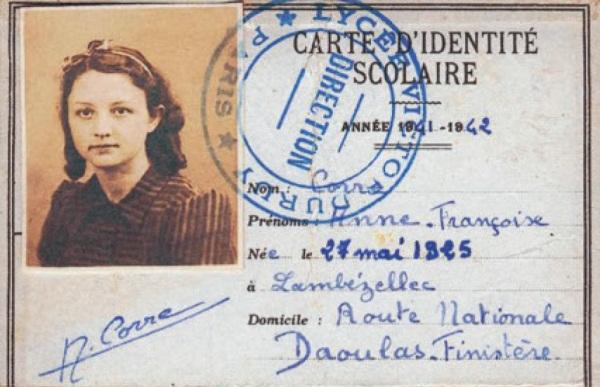 Anne Corre, lycéenne résistante