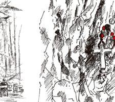 Chene au clou de Bonnouvre, illustration de Liz Hascoet