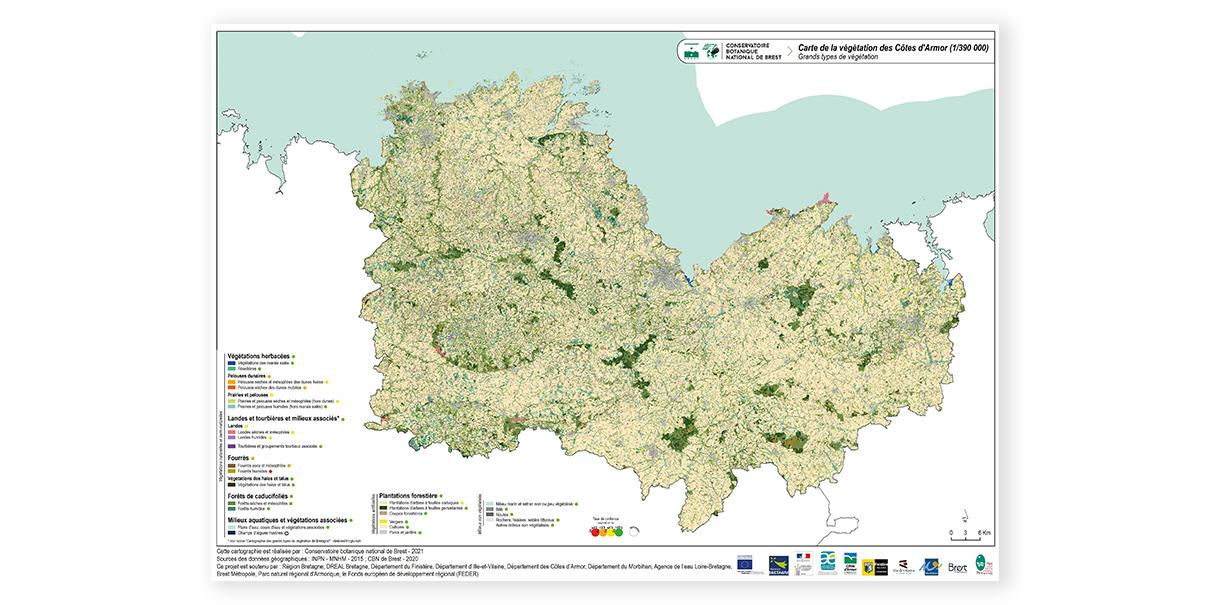 Carte botanique des Côtes d'Armor