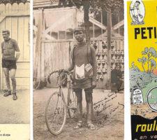 """• Lucien Mazan, dit """"Petit Breton"""" • Alfred Le Bars, lors du Tour de France 1909, qu'il finira à la 19è place. Photo Mark Holderbeke - Petit Breton devient en 1925 le nom d'un fabricant de cycles."""